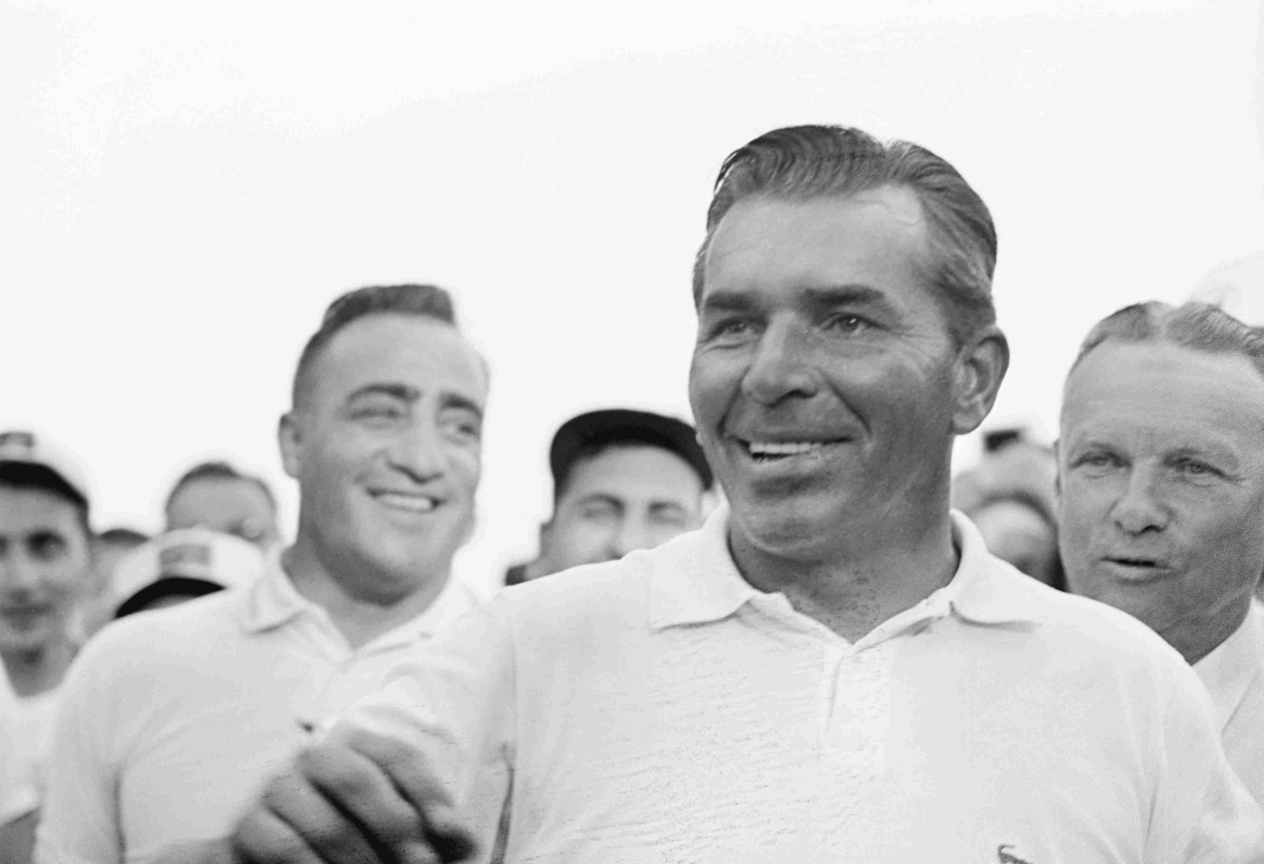 Smiling Julius Boros, after winning the 1963 US Open Golf Championship at Brookline, MA