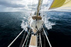 Yacht sailing on the ocean