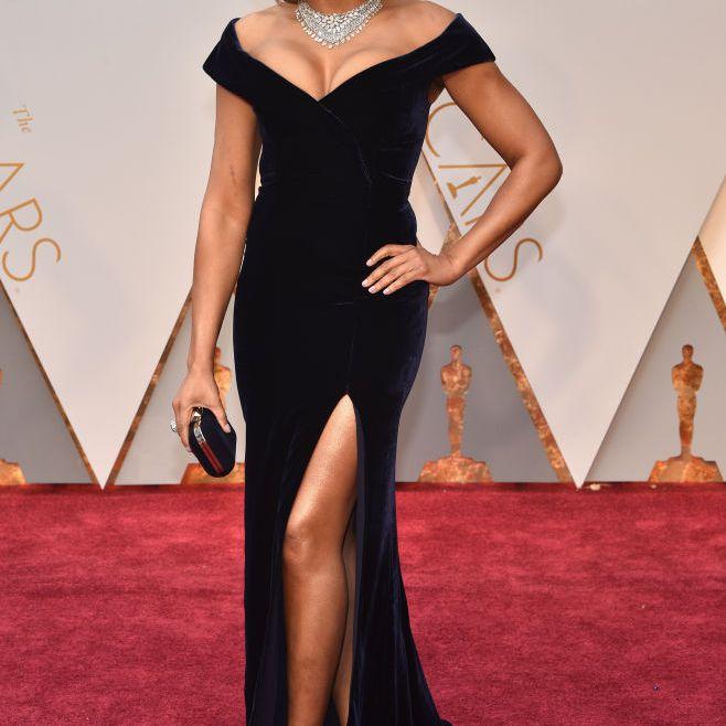 Taraji P. Henson red carpet 2017 Oscars
