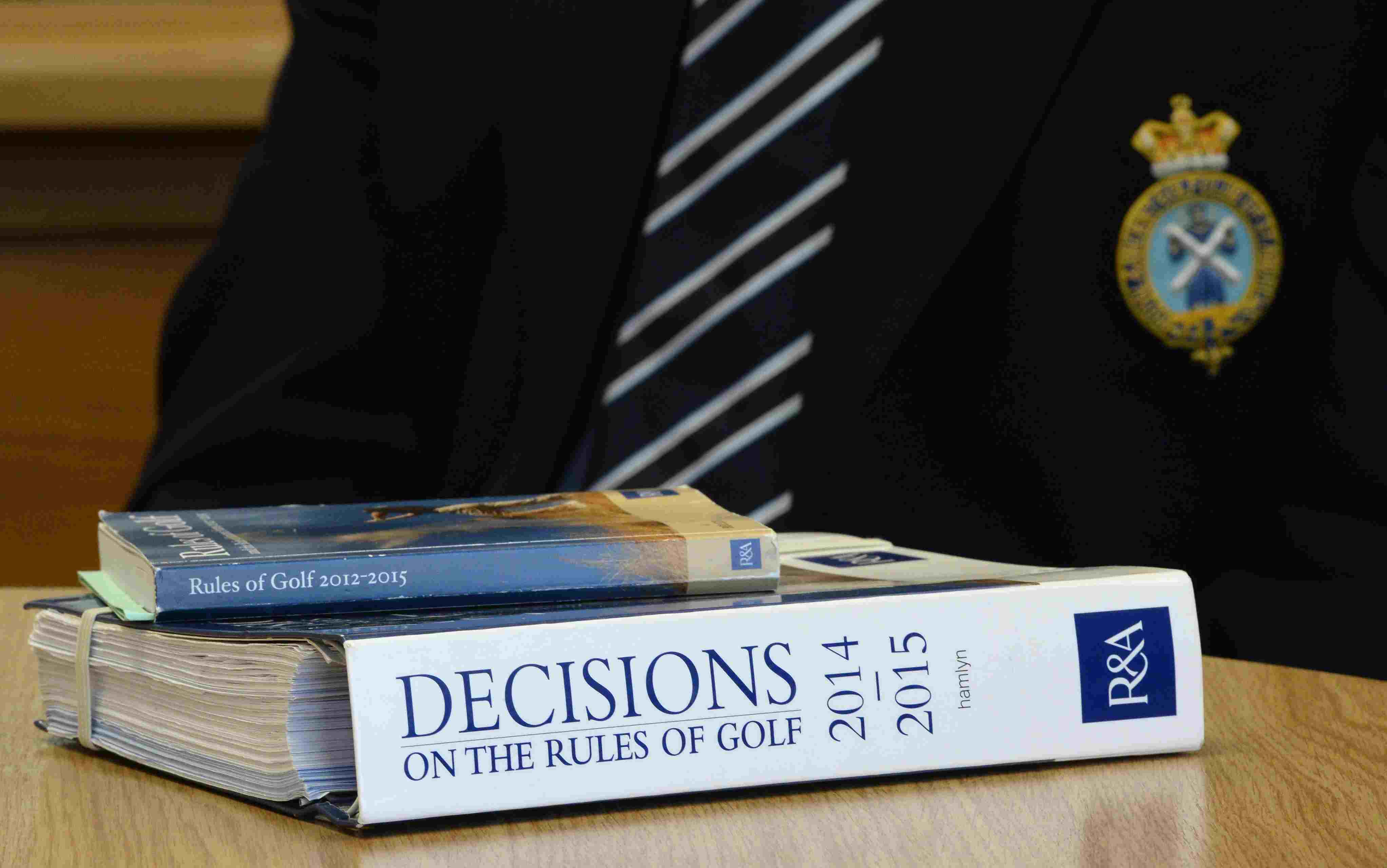 golf rules and decisions book