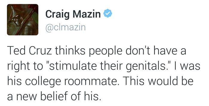 Ted Cruz College Roommate