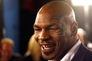 LOS ANGELES - FEBRUARY 11: Boxer Mike Tyson arrives at the premiere of 'Against the Ropes' at the Chinese Theater on February 11, 2004 in Los Angeles, California.