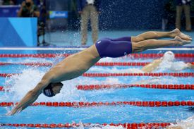 US Olympic swimmer Michael Phelps in competition