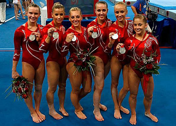 The US Gymnastics Team Wins the Silver Medal at the 2008 Olympics in Beijing