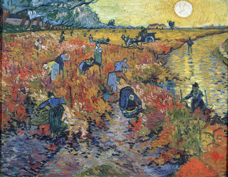 92ce1bd7c Painting by Vincent Van Gogh, The Red Vineyards at Arles, 1888