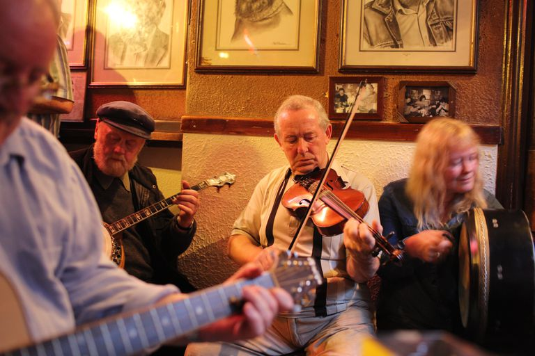Musicians playing at O'Donoghue's Bar, Dublin, Ireland