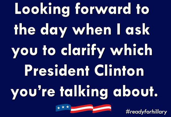Which President Clinton?