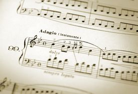 Tempo marking on sheet music