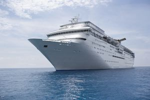 Photo of a cruise ship at sea, illustrating About.com's Cruise Sweepstakes List.