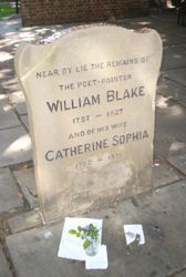 William Blake's Monument at Bunhill Fields