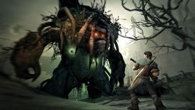 Fable character with demon attacking