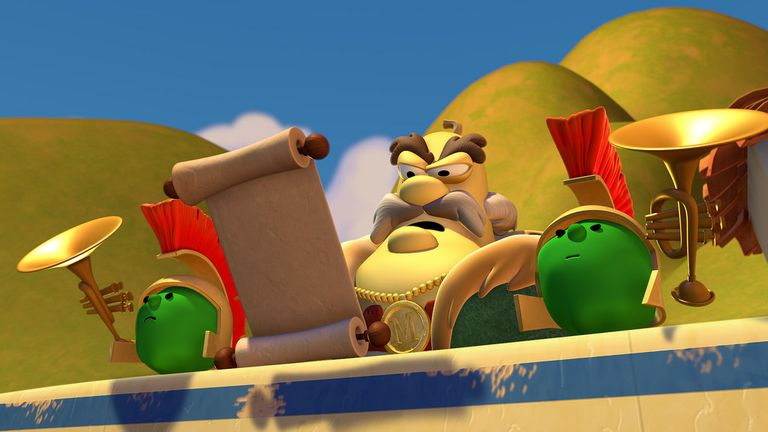 screen cap from Veggie Tales 'St. Nicholas'
