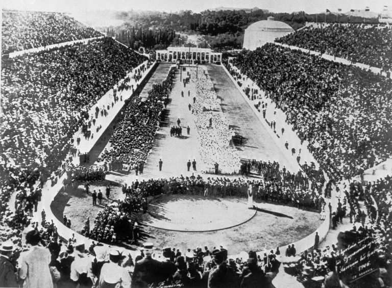 1896 Olympic opening ceremony