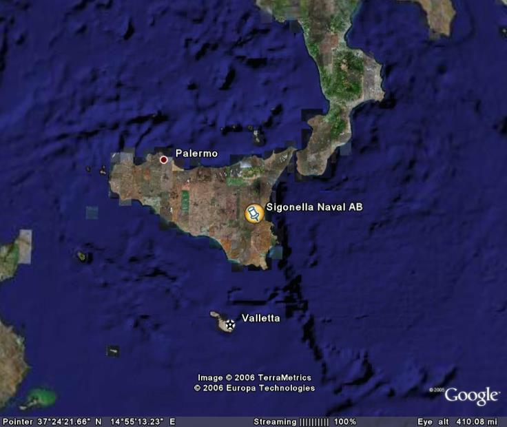 Sigonella Naval AB map
