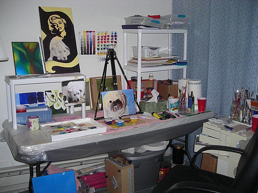 Photo of painting studio