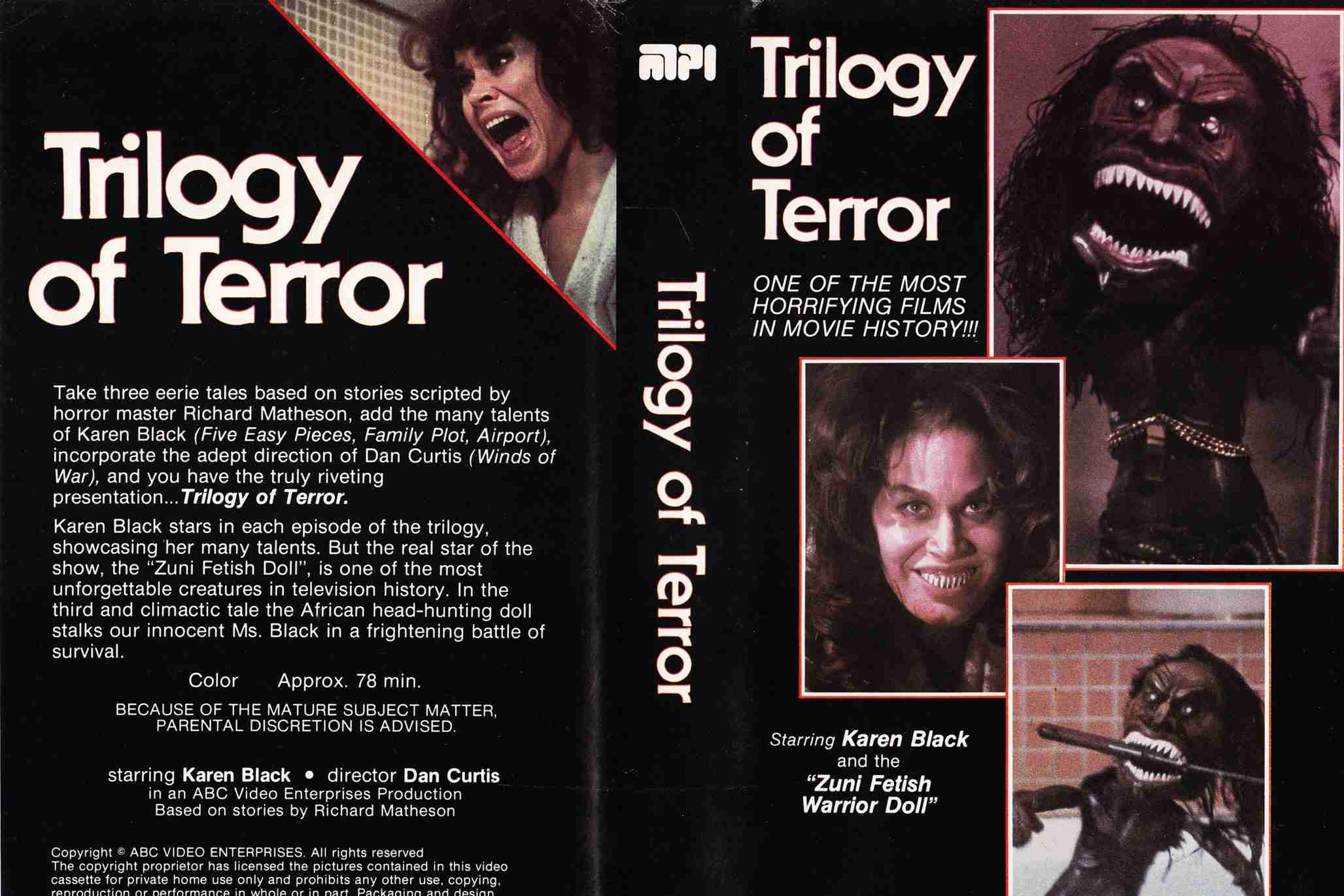 Trilogy of Terror VHS cover