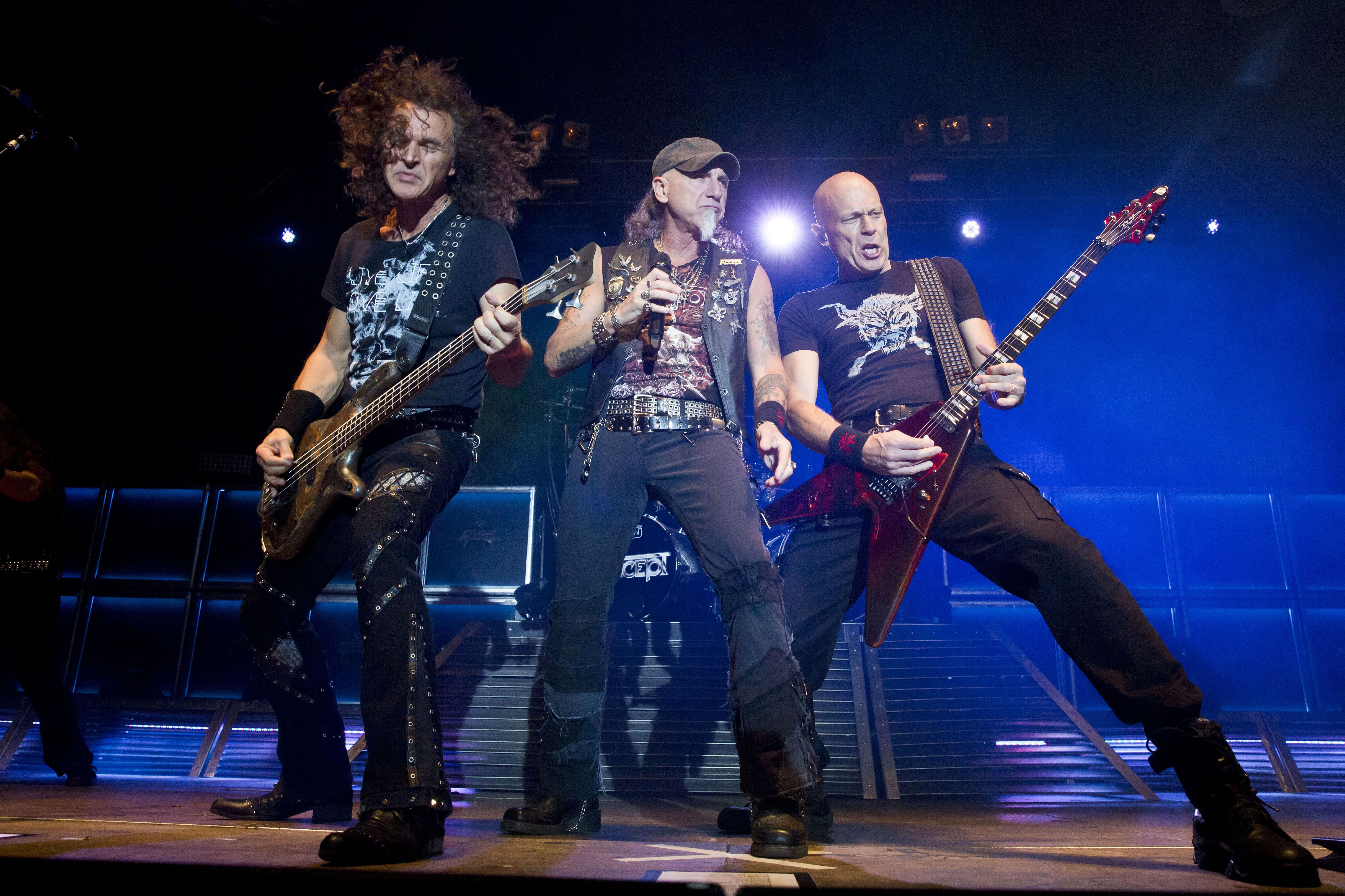 Peter Baltes, Mark Tornillo and Wolf Hoffmann of Accept