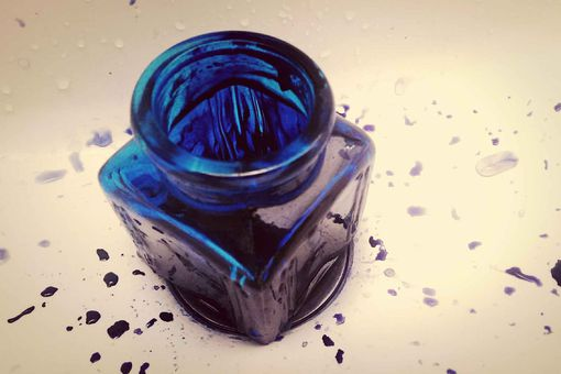 A bottle of ink.