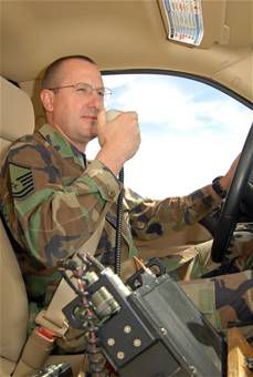 Master Sgt. James Woods, 412th Operations Support Squadron deputy airfield manager