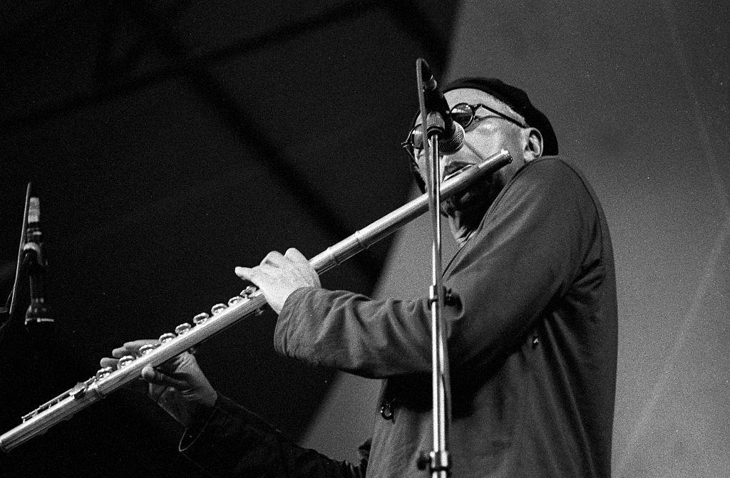 Charles Lloyd plays the flute.