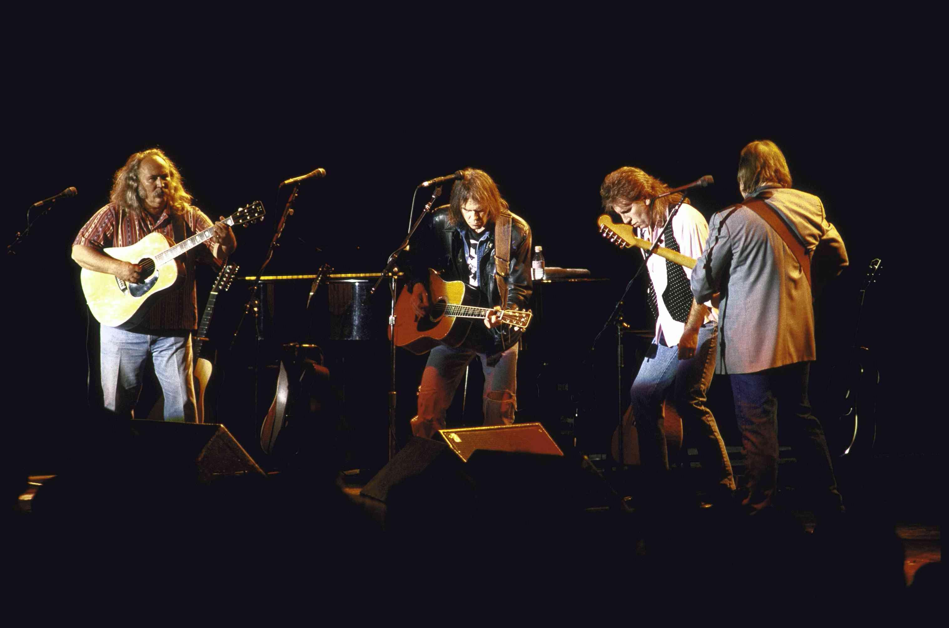 Crosby, Stills, Nash & Young performing live