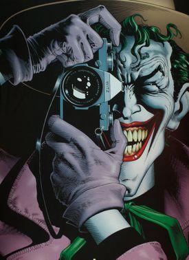 The Joker looking through a camera
