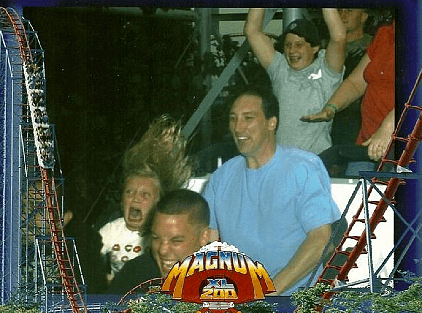 Scared Kid on Coaster