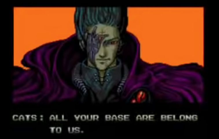 All Your Base Are Belong to Us screenshot from video game