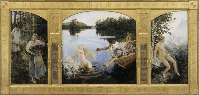 """Aino Myth"" by Akseli Gallen-Kallela"