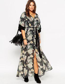 ASOS Plus size floral maxi dress