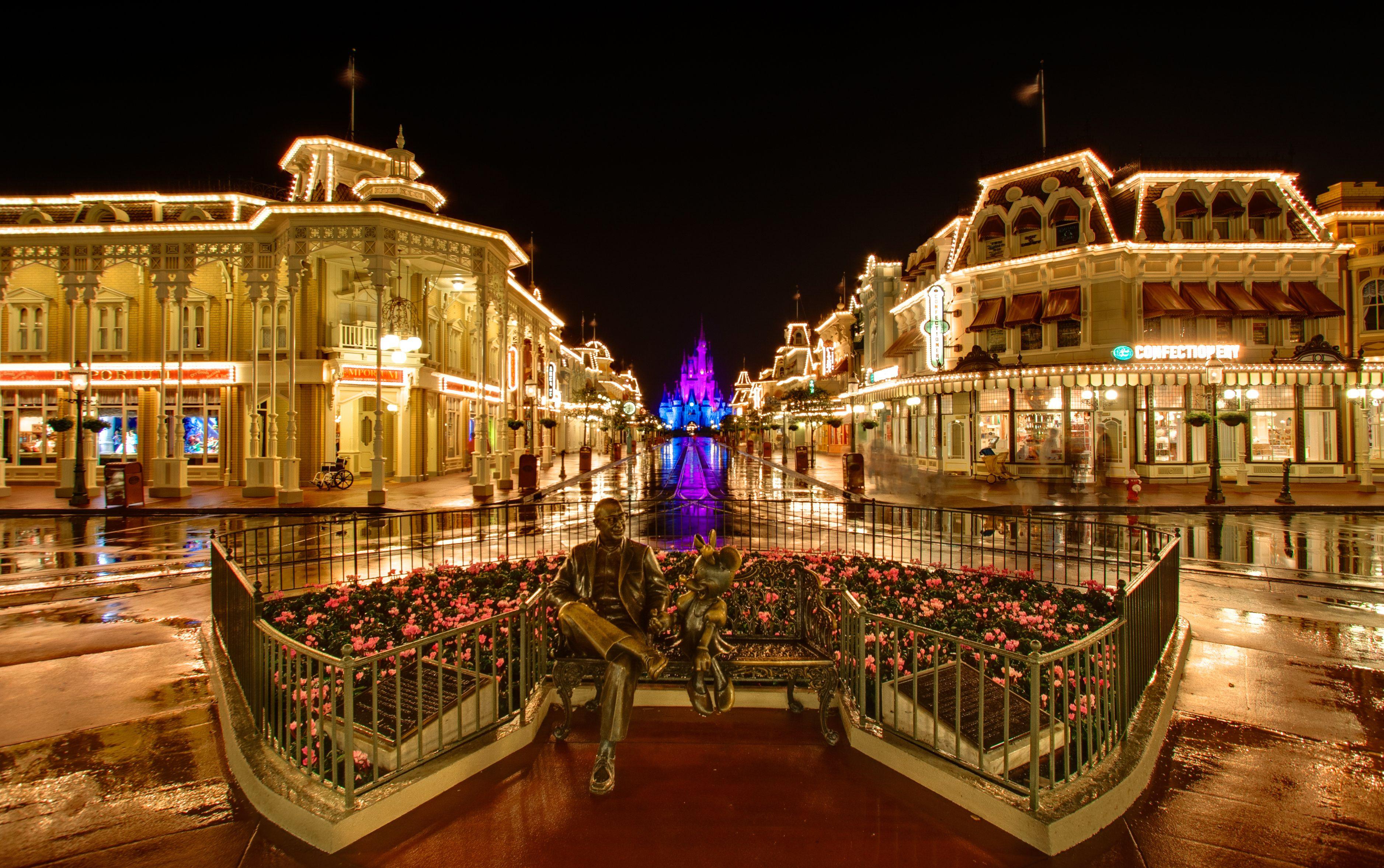 Magic Kingdom's Main Street in the Rain