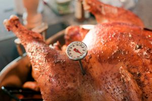 Baked Turkey with Thermometer detail