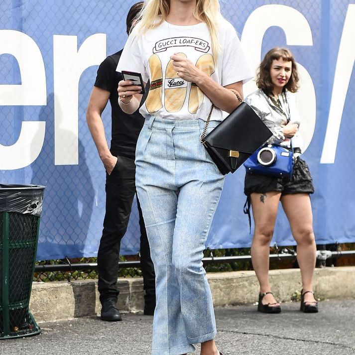 Street style in t-shirt and jeans