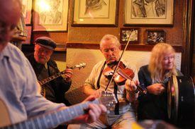 Musicians playing at O'Donoghue's Bar, Dublin, Ireland