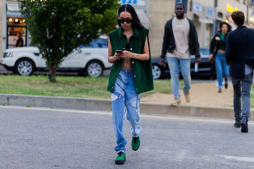 Street style fashion jeans