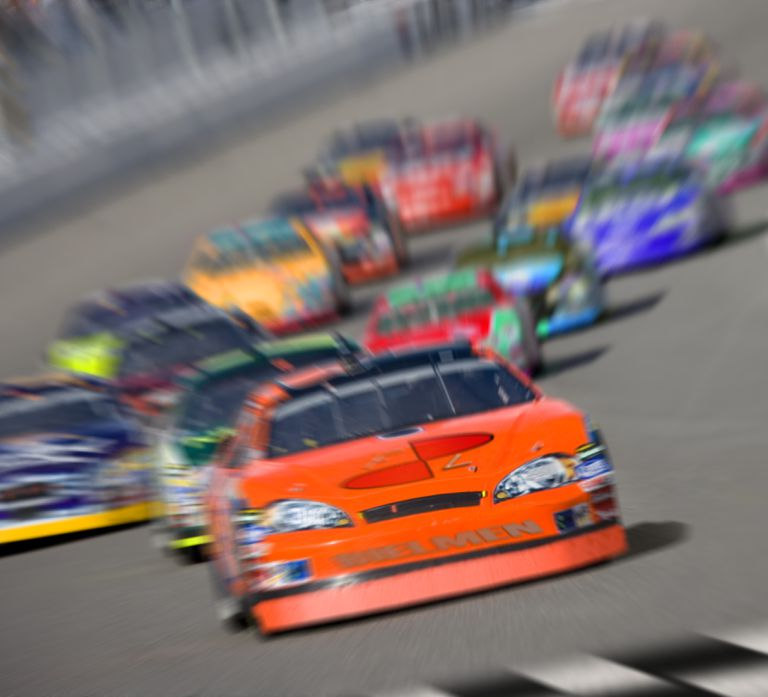 Photo of a stock car race, illustrating About.com's NASCAR Sweepstakes List.