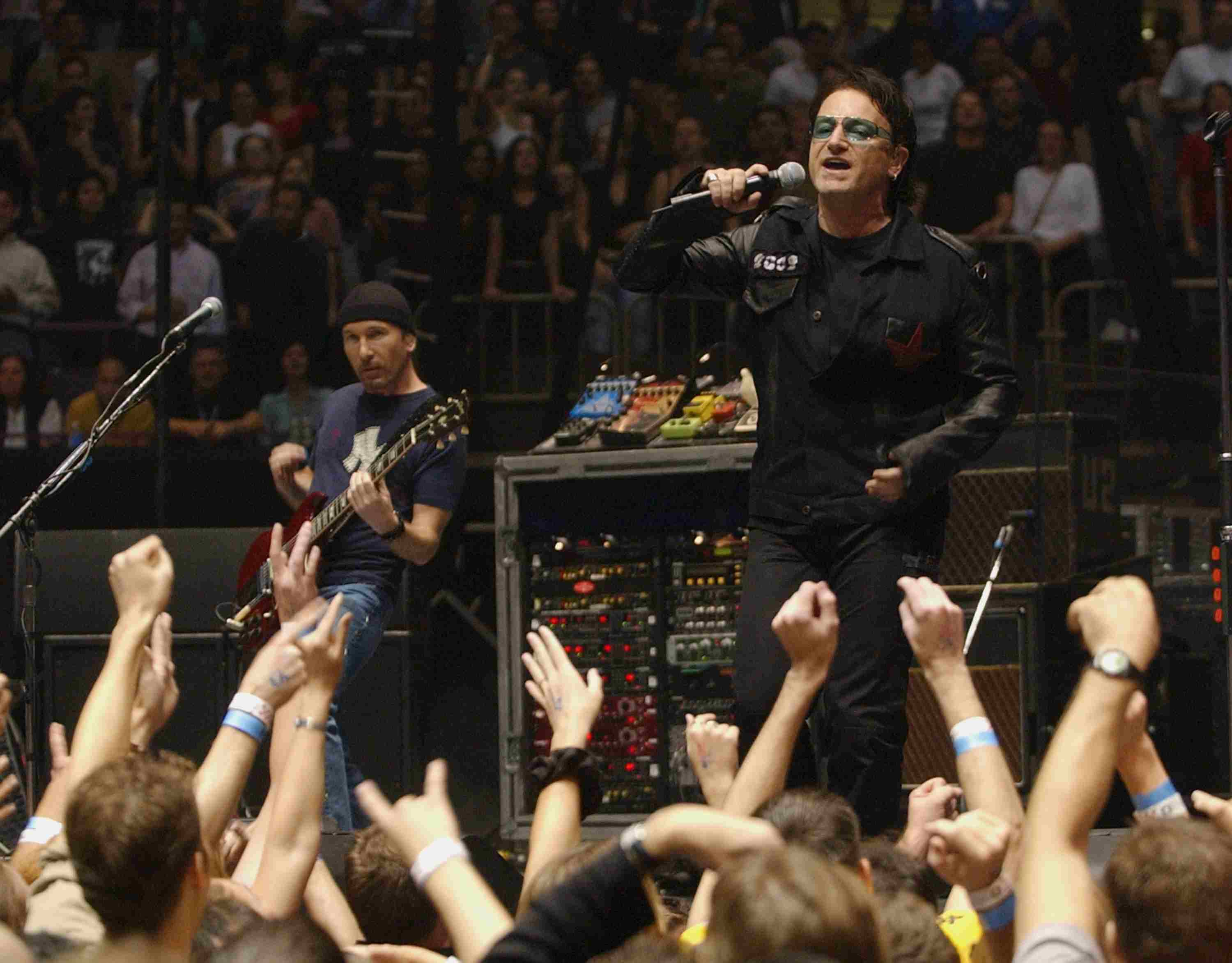 U2 performs at Madison Square Garden in NYC