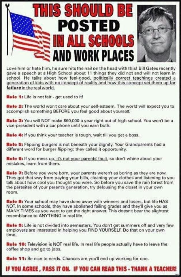 Bill Gates' 11 Rules of Life