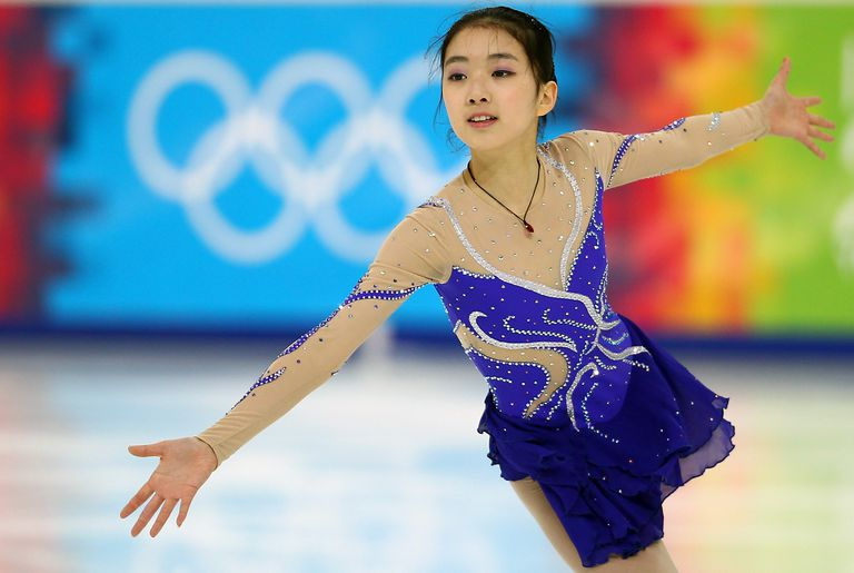 A Figure Skaters Competes at the Youth Winter Olympic Games