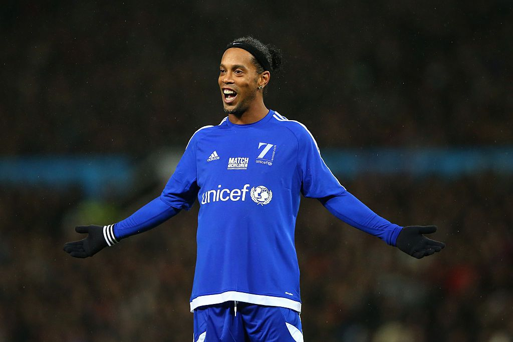 Ronaldinho playing in Match for Children in aid of UNICEF