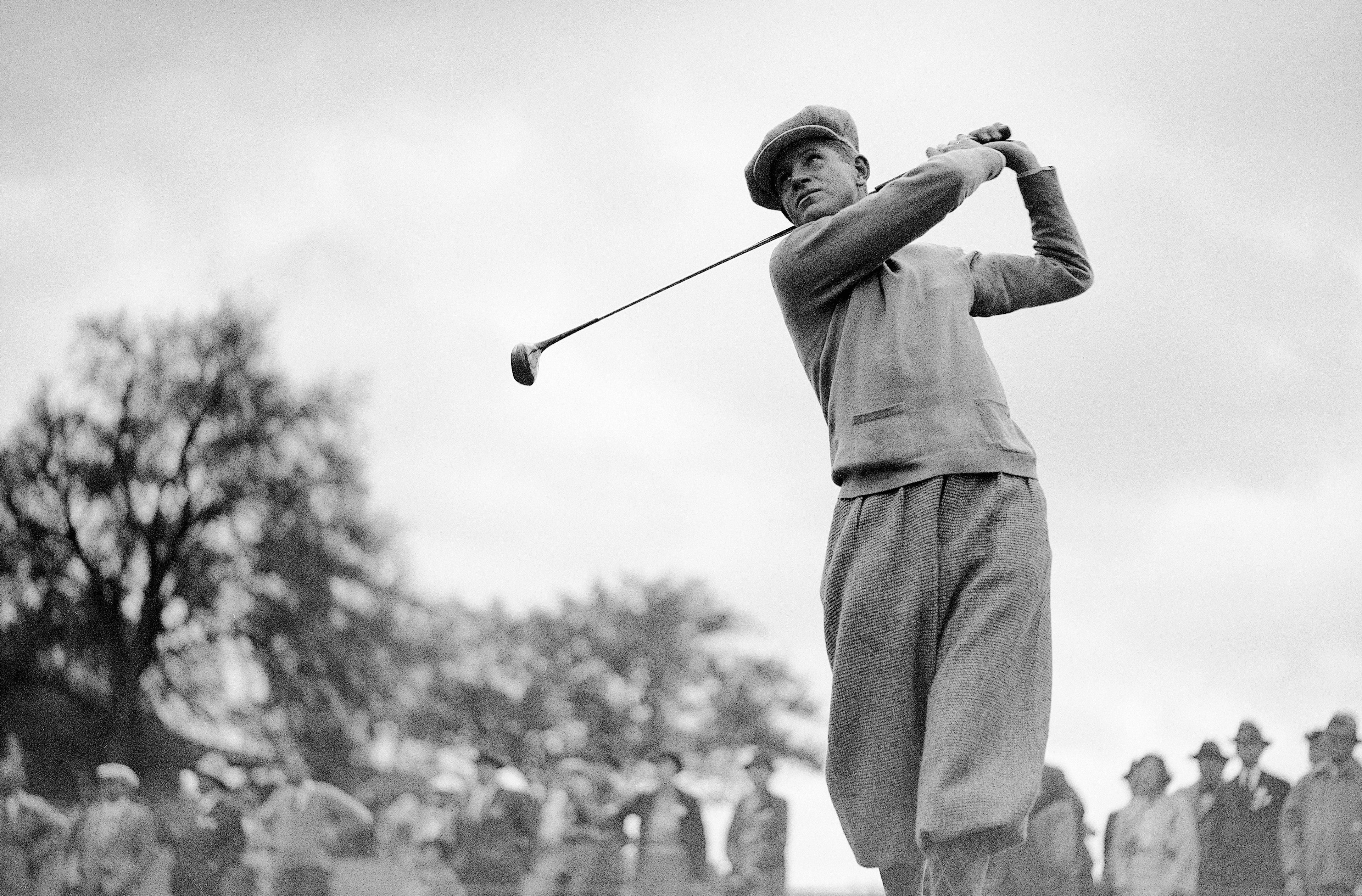 Horton Smith at End of Golf Swing
