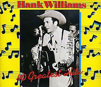 hank williams's 40 greatest hits album cover
