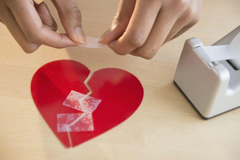 Taping a broken heart