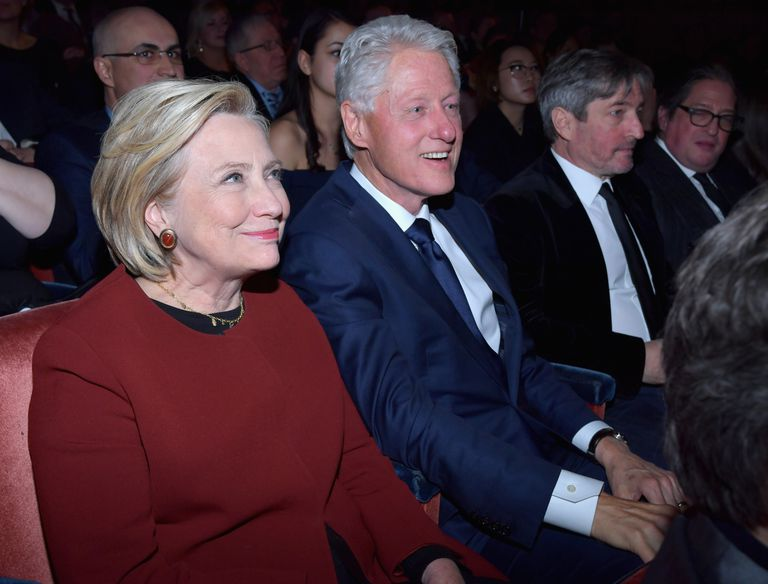 Former U.S. Secretary of State Hillary Clinton and former U.S. President Bill Clinton attend a 2018 concert