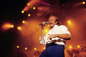 '80s solo artist Phil Collins performs live in Sydney, Australia circa 1985.