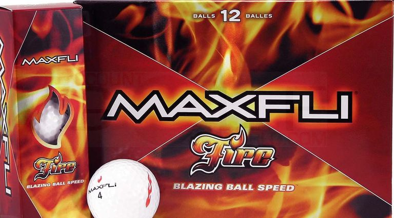 Maxfli Fire distance golf balls when the brand was owned by TaylorMade