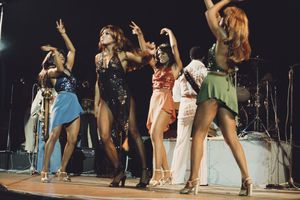 Tina and ika turner performing in the 70s