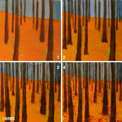 Tree Painting Step by Step Demo -- Tree Painting in the Style of Klimt