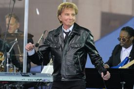 Barry Manilow performing on NBC