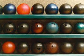 House bowling balls on racks